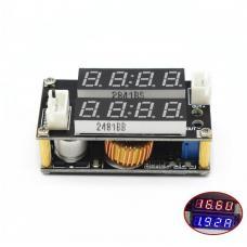 DC/DC įtampos keitiklis iš 5-30V į 0.8-29V 5A + Volt/amper (STEP DOWN)