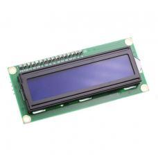 16x2 LCD ekranas su I2C valdymu (mėlynas)