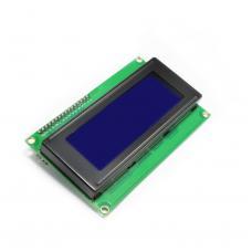 20x4 LCD ekranas su I2C valdymu (mėlynas)