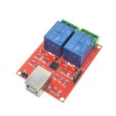 2 kanalų 5V programuojamas USB relių modulis