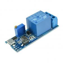1 kanalo reguliuojamos srovės (5- 30V) laiko relės modulis