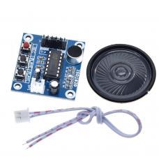Garso įrašymo ir atkūrimo modulis su garsiakalbiu ISD1820