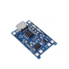 TP4056 ličio baterijų įkrovimo/ iškrovimo modulis su apsauga