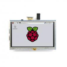 """TFT LCD  5"""" liečiamo ekrano priedėlis 800x480px Raspberry PI"""