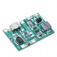 TP4056 ličio baterijų įkrovimo/ iškrovimo modulis su įtampos keitikliu iš 4.5-8V į 4.3-27V 2A (STEP UP)