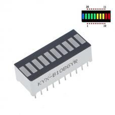 10 segmentų LED modulis (RYGB)
