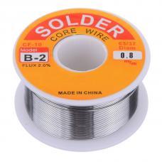 Lydmetalis 0.8mm 100g SN63/PB37 su 2% fliuso