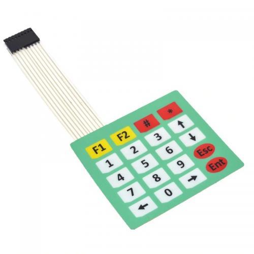 20 skaitmenų membraninė klaviatūra (4x5)