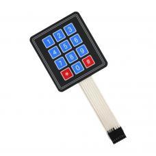 12 skaitmenų membraninė klaviatūra (3x4)