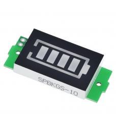 Ličio baterijų įkrovimo lygio matuoklis 1S- 8S - žalias