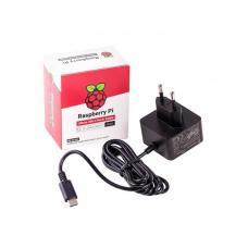 Raspberry Pi4 oficialus maitinimo šaltinis USB-C 5.1V 3A (juodas)